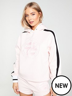 346beb14 River Island River Island Embroidered Prolific Hoody-Pink