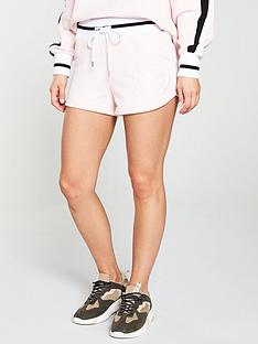 river-island-river-island-embroidered-prolific-jersey-short-pink