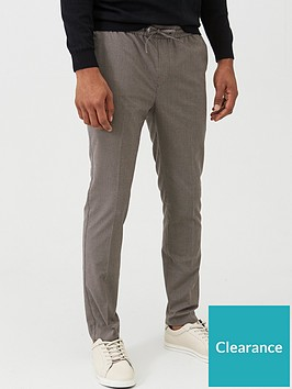 very-man-slim-houndstooth-check-joggers-grey