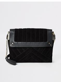 river-island-river-island-leather-quilted-shoulder-bag-black