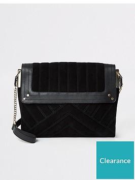 river-island-river-island-leather-quilted-shoulder-bag-black