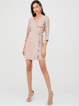 little-mistress-long-sleeve-sequin-dress-mink
