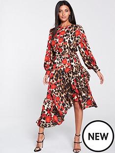 forever-unique-u-collection-frill-hem-long-sleeve-midi-dress-leopard