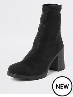 river-island-sock-boot-black