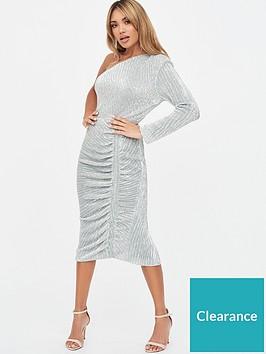 lavish-alice-one-sleeve-sequinnbspmidi-dress-metallic-silver