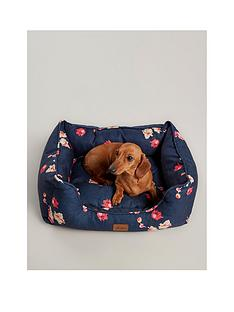 joules-joules-floral-collection-square-dog-bed--large