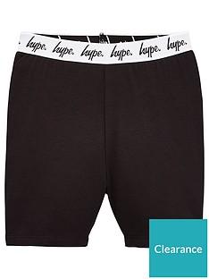 hype-girls-script-waistband-cycling-shorts-black