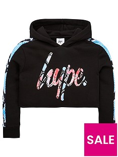 hype-girls-snake-cropped-hoodie-black
