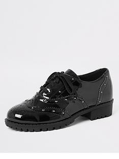 river-island-girls-patent-studded-brogues-black