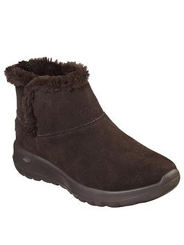 skechers-on-the-go-joy-faux-fur-lined-ankle-boot-chocolate