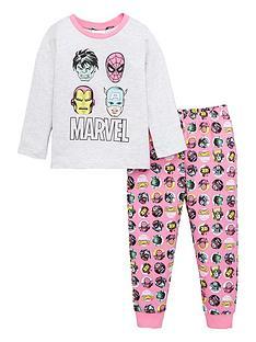 marvel-girls-long-sleeved-pyjamas-pink