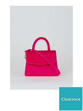 warehouse-mini-top-handle-crossbody-bag-pink