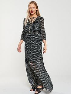 v-by-very-rope-trim-maxi-dress-greenprint