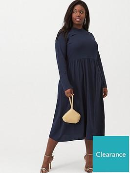 junarose-curve-newsalisa-long-sleeved-midi-dress-navy