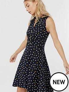 monsoon-dainton-ditsy-print-knee-length-dress-navy