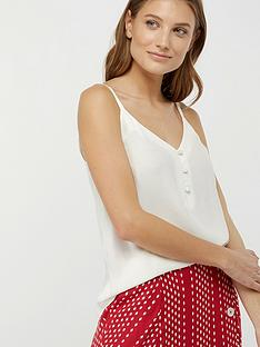 monsoon-mila-button-cami-top-ivory