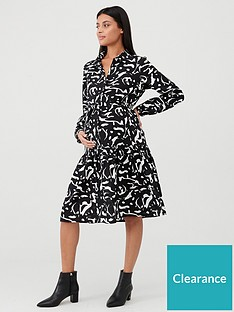 mama-licious-serena-long-sleeve-printed-maternity-dress-black-white