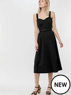 monsoon-fae-fit-amp-flare-midi-dress-black