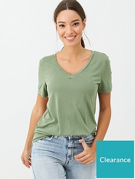 v-by-very-the-essential-v-neck-soft-touch-t-shirt-green