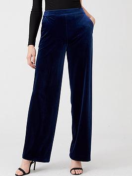 v-by-very-velvet-wide-leg-trouser-navy