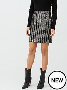 v-by-very-sequin-stripe-skirt-black