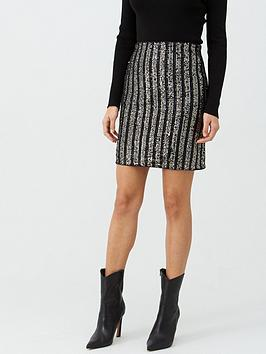 v-by-very-sequin-stripe-skirt-black
