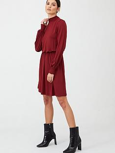 v-by-very-high-neck-fit-and-flare-dress