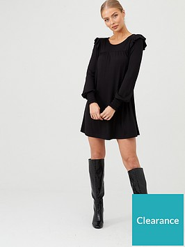 v-by-very-frill-sleeve-tunic-black