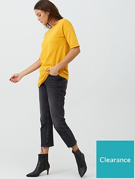 v-by-very-the-essential-34-sleeve-longline-tunic-mustard