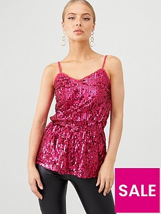 v-by-very-sequin-cami-top-pink