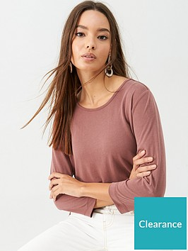 v-by-very-the-essential-34-sleeve-soft-touch-t-shirt-plum