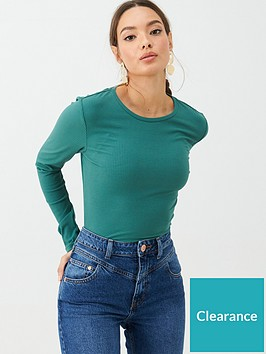 v-by-very-the-essential-ribbed-long-sleeve-t-shirt-teal