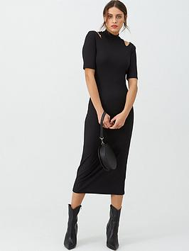 v-by-very-cut-out-shoulder-ribbed-maxi-dress-black