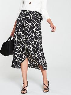v-by-very-mono-geo-wrap-skirt-monochrome