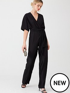 v-by-very-v-neck-plisse-jumpsuit-black