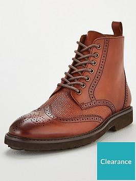 office-benedict-brogue-boots-brown