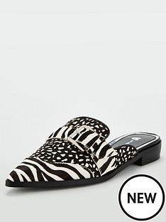 v-by-very-karly-leather-point-toe-flat-buckle-mules-zebra