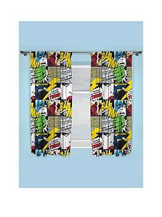 marvel-comics-scribble-pleated-curtains