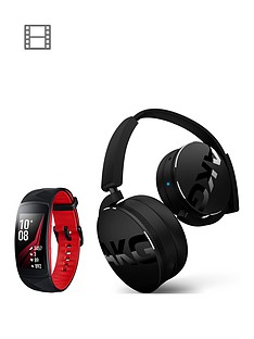 samsung-gear-fit-2-pro-black-red-with-free-akg-y50bt-bluetooth-headphones