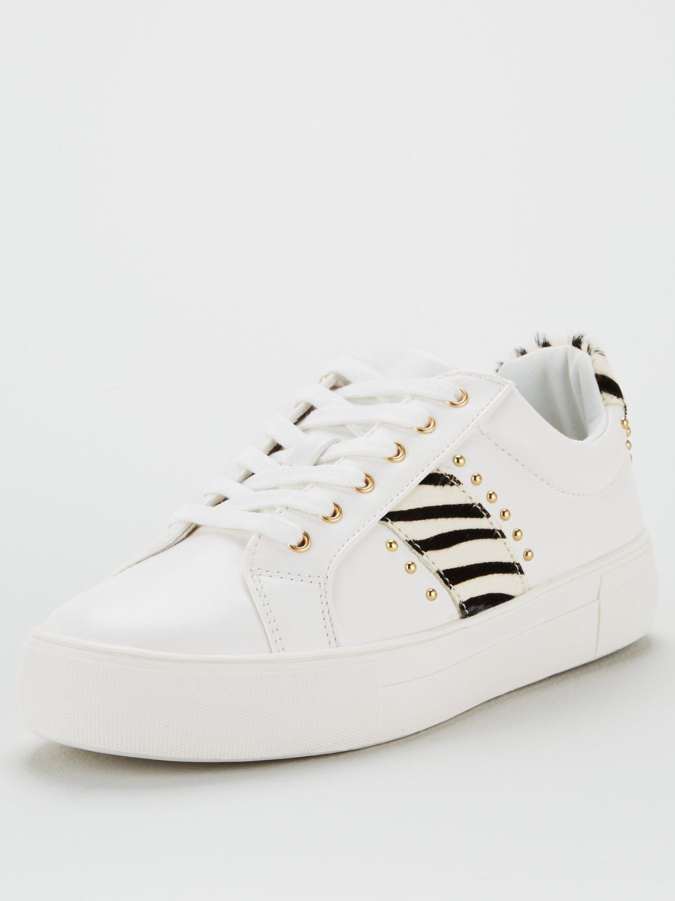 V by Very Allie Studded Stripe Trainers