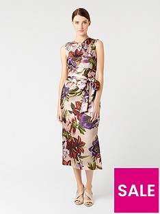 hobbs-printed-thao-dress-blush-multi