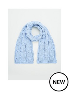 v-by-very-cable-knit-scarf-blue