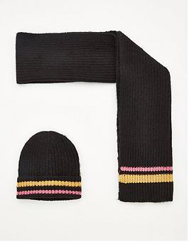 v-by-very-metallic-stripe-hat-and-scarf-set