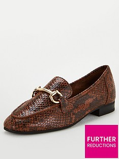 v-by-very-mario-leather-snaffle-trim-loafers-brown