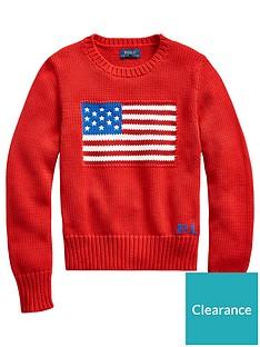 ralph-lauren-girls-knitted-flag-jumper-red