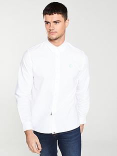 pretty-green-oxford-shirt-white