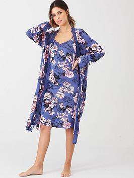 v-by-very-lace-trim-robe-floral-print