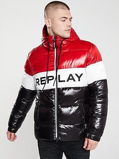 replay-colour-block-padded-jacket-redwhiteblack