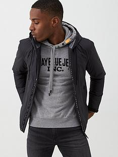replay-logo-tape-hooded-jacket-black