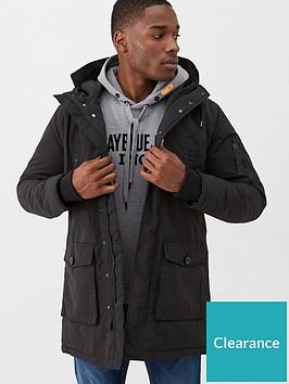 replay-hooded-parka-jacket-black